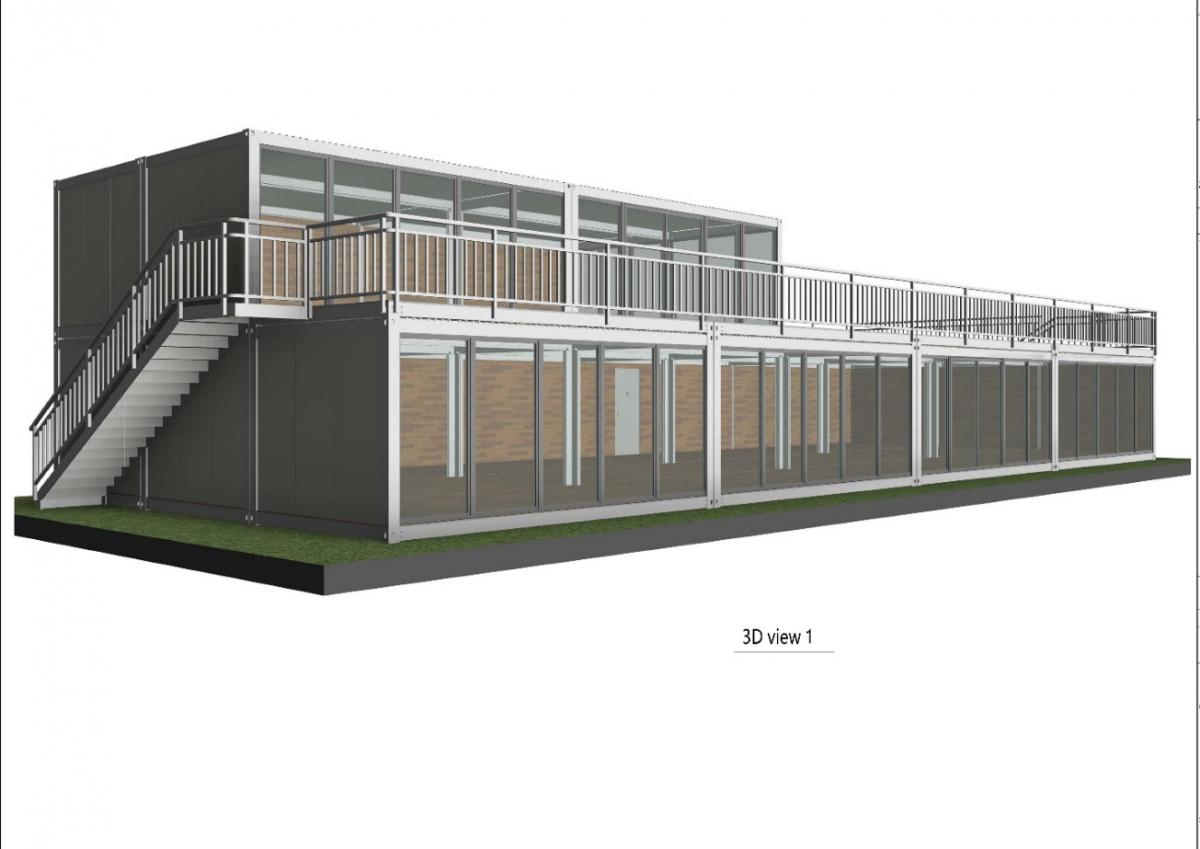 prefabricated modular building, modular building, semi-permanent infrastructure